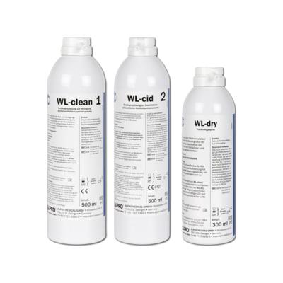 WL-Set Reinigungs- und Desinfektionssystem (WL-clean, WL-cid, WL-dry)