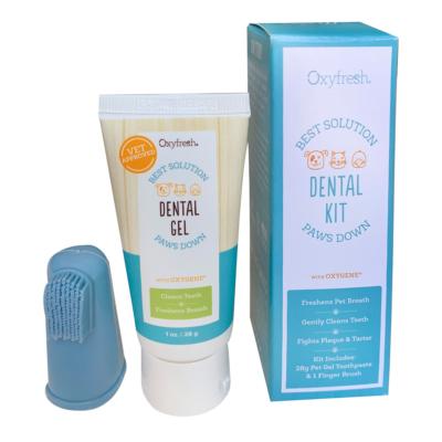 Oxyfresh Dental Gel and Finger brush kit 28g
